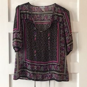 Tops - Delia's Purple Tapestry Blouse